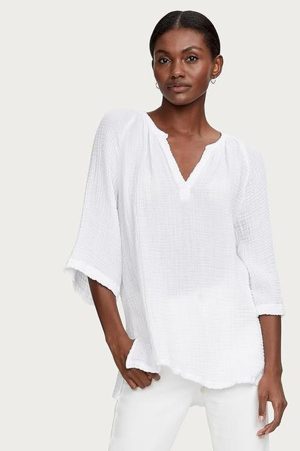 Micael Stars Micah Gauze Tunic - Front Cropped Image