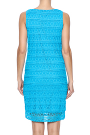 Michael Edwards Turquoise Lace Dress - Back cropped