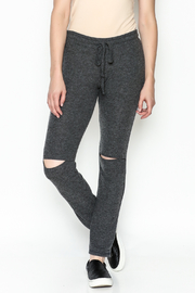 Michael Lauren Rip Knee Skinny Sweatpant - Product Mini Image
