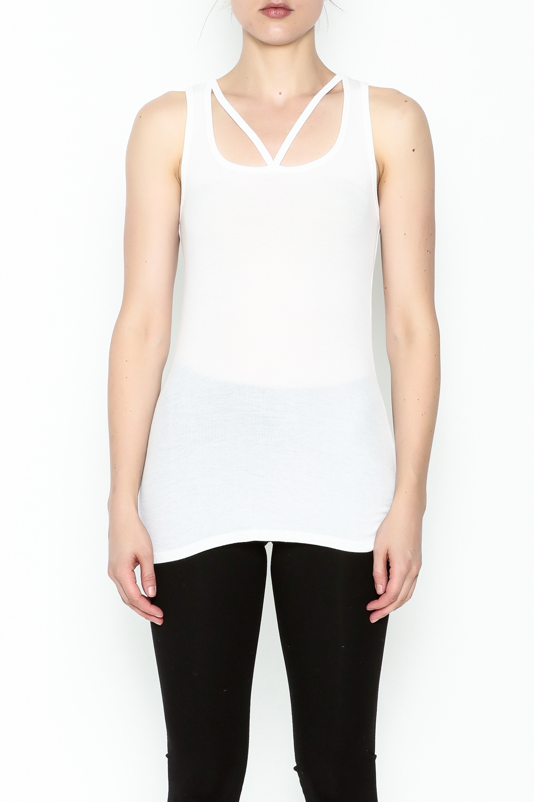Michael Lauren Strappy Cutout Tank - Front Full Image