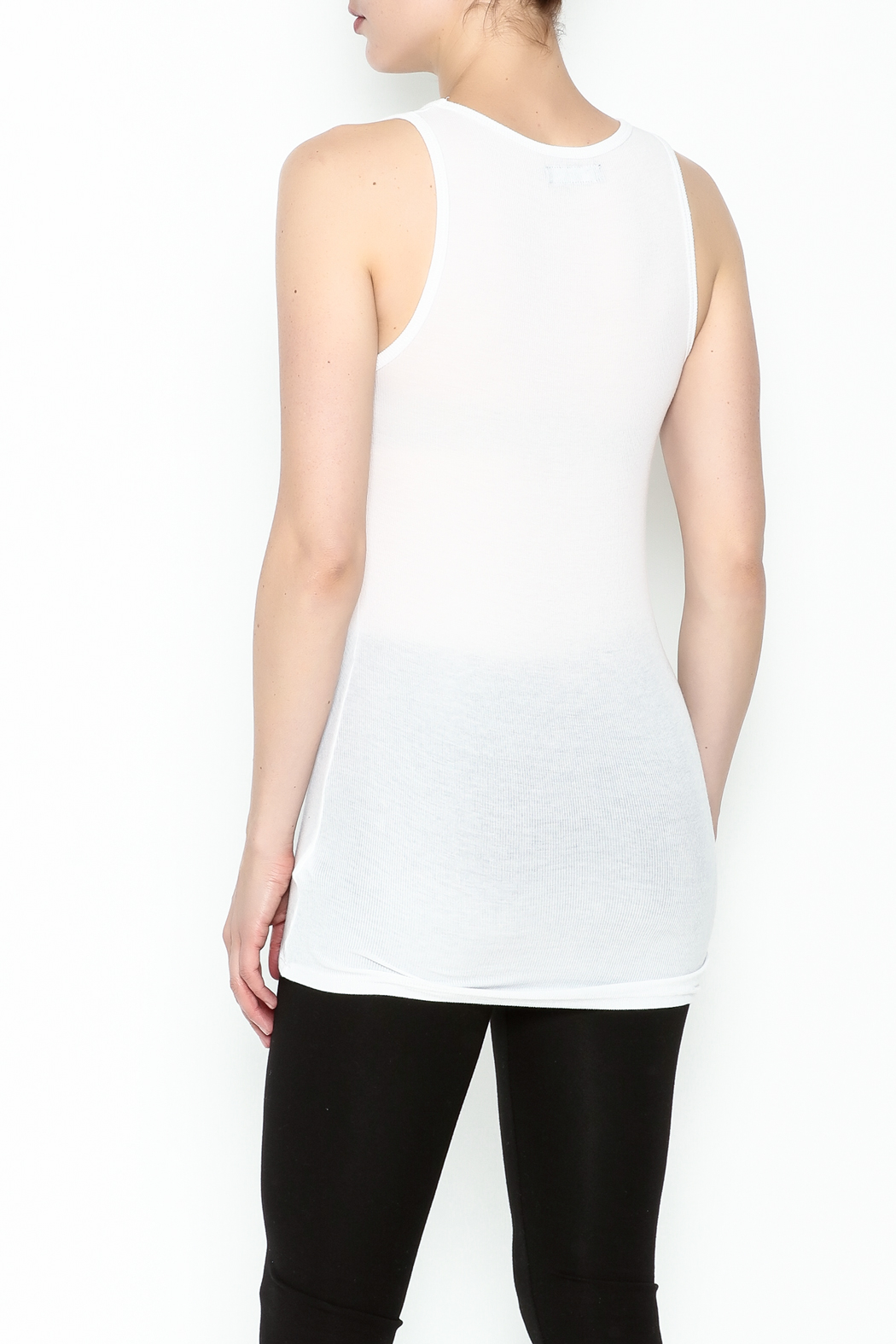 Michael Lauren Strappy Cutout Tank - Back Cropped Image