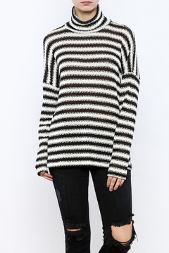 Shoptiques Product: Striped Cowl Neck Sweater
