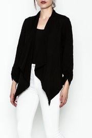 Michael Stars Draped Black Cardigan - Product Mini Image