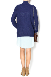 Michael Stars Navy Sweater Jacket - Side cropped