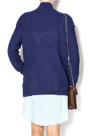 Michael Stars Navy Sweater Jacket - Back cropped