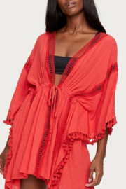 Michael Stars Ruana Red Coverup - Front cropped