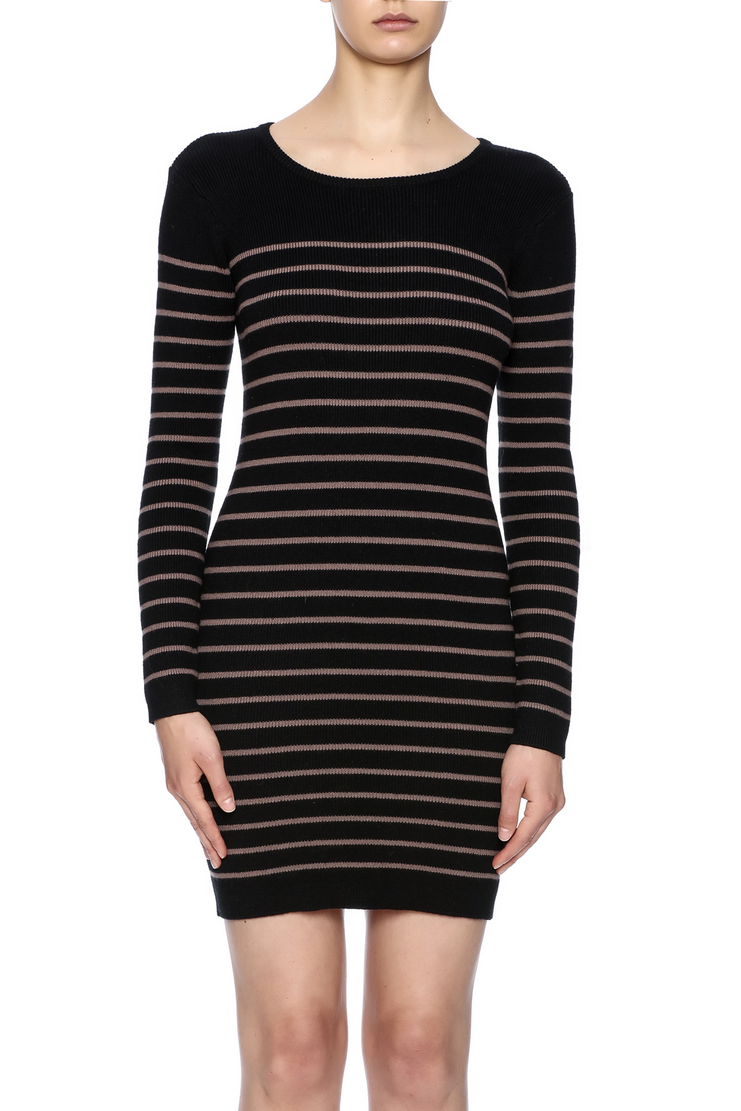 Michael Stars Striped Sweater Dress - Side Cropped Image