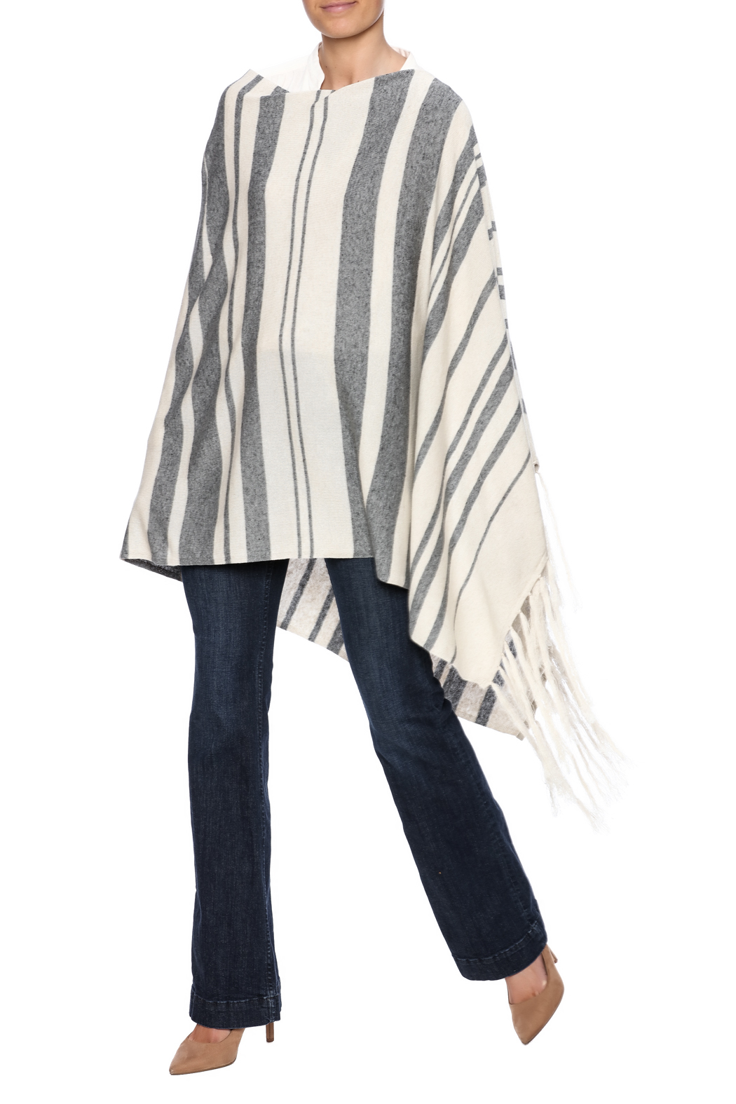 Michael Stars Stripped Poncho - Front Full Image