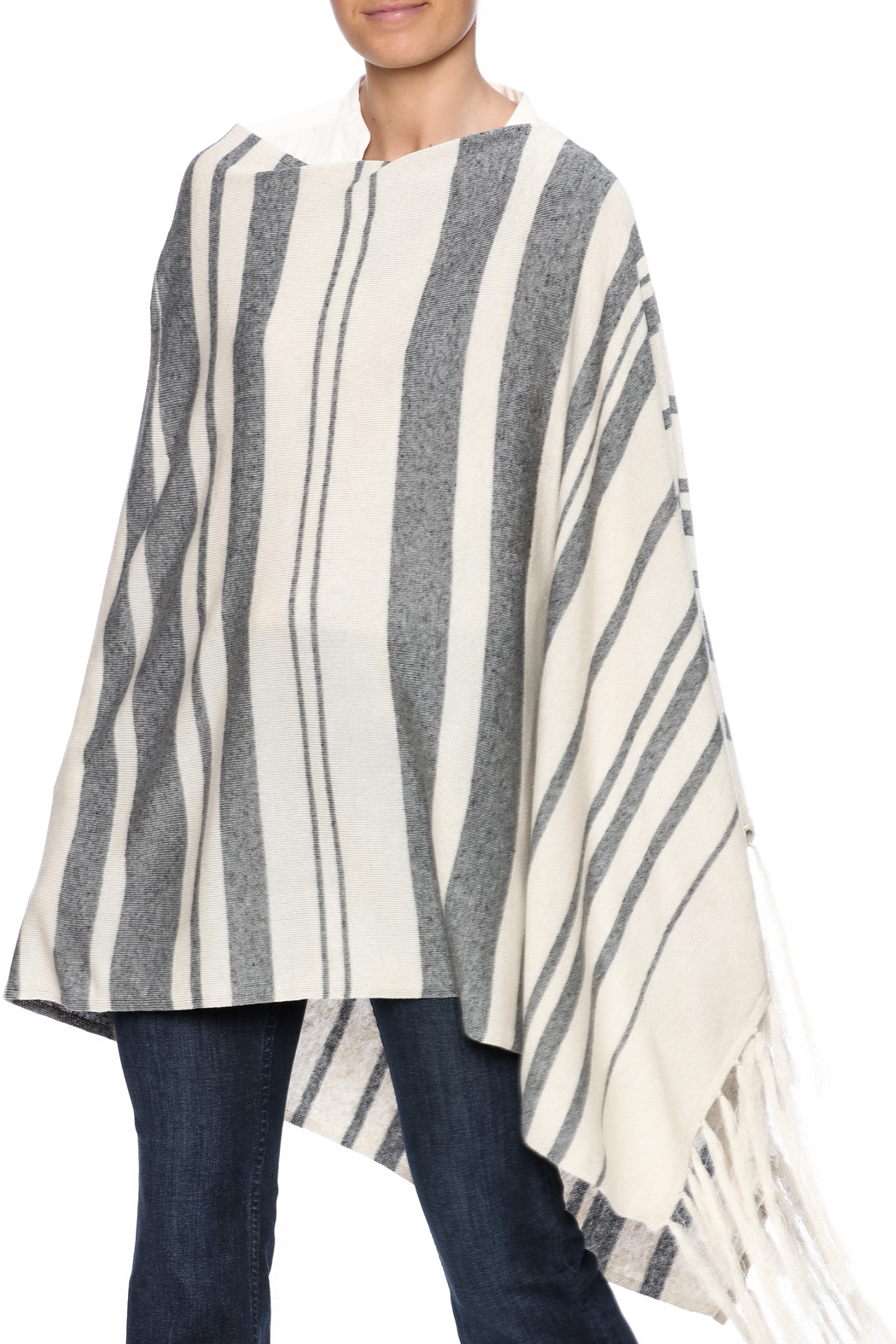 Michael Stars Stripped Poncho - Main Image