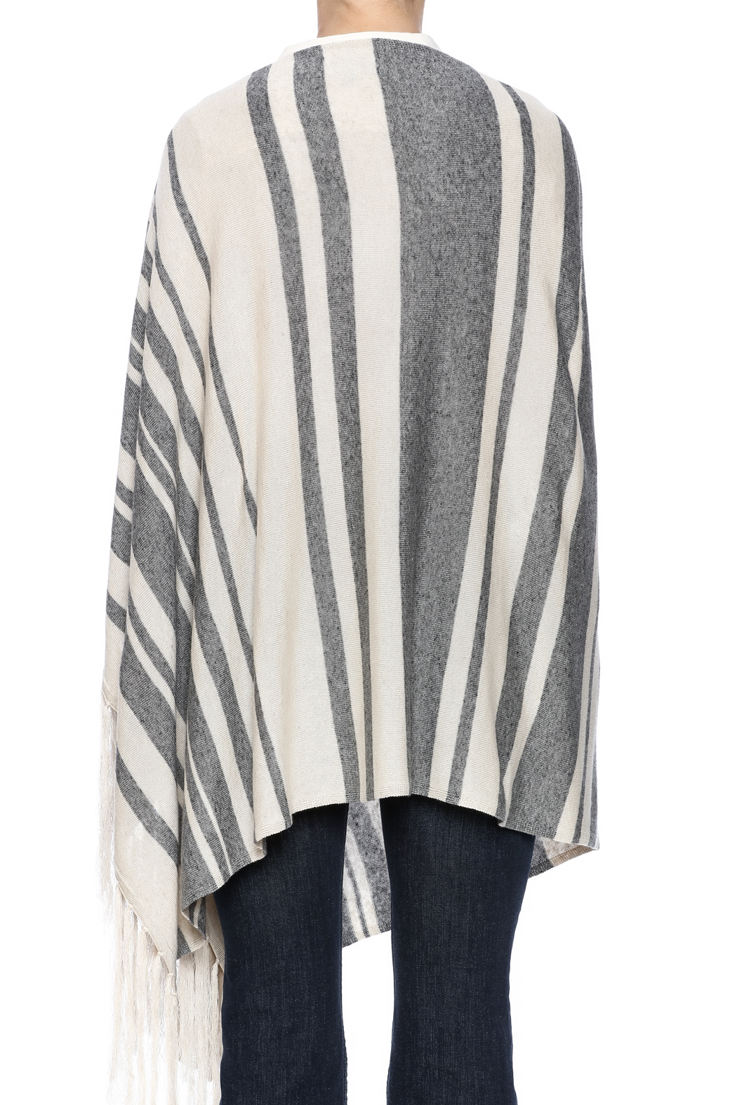 Michael Stars Stripped Poncho - Back Cropped Image