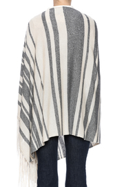 Michael Stars Stripped Poncho - Back cropped