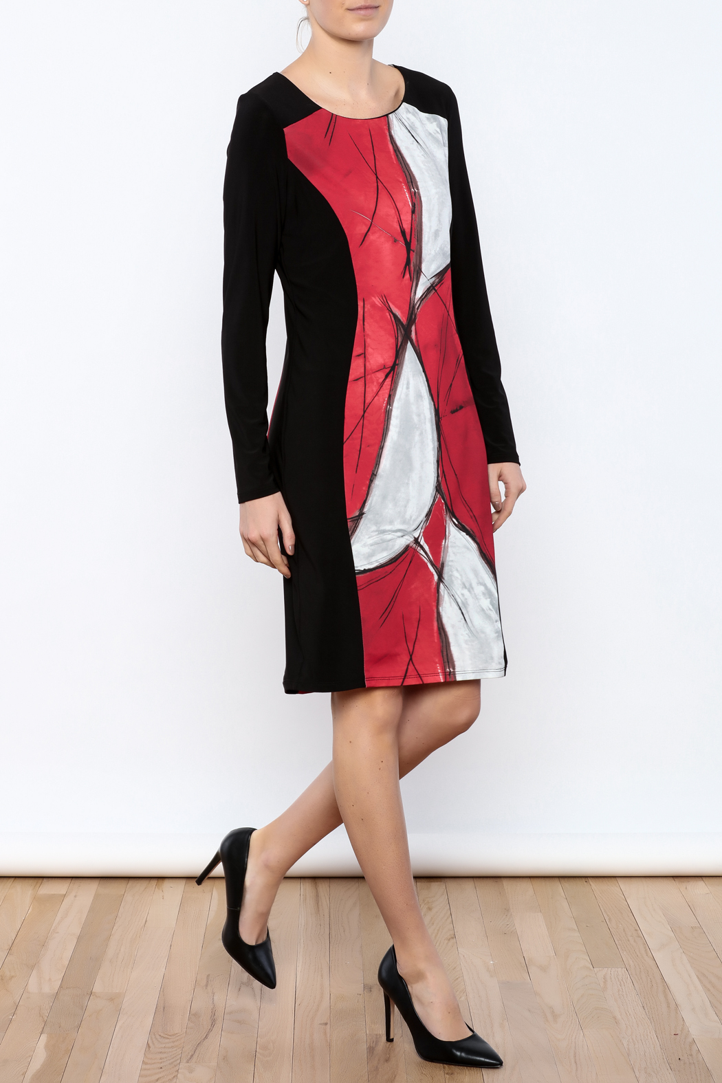 Michael Tyler Collections Panel Dress - Front Full Image
