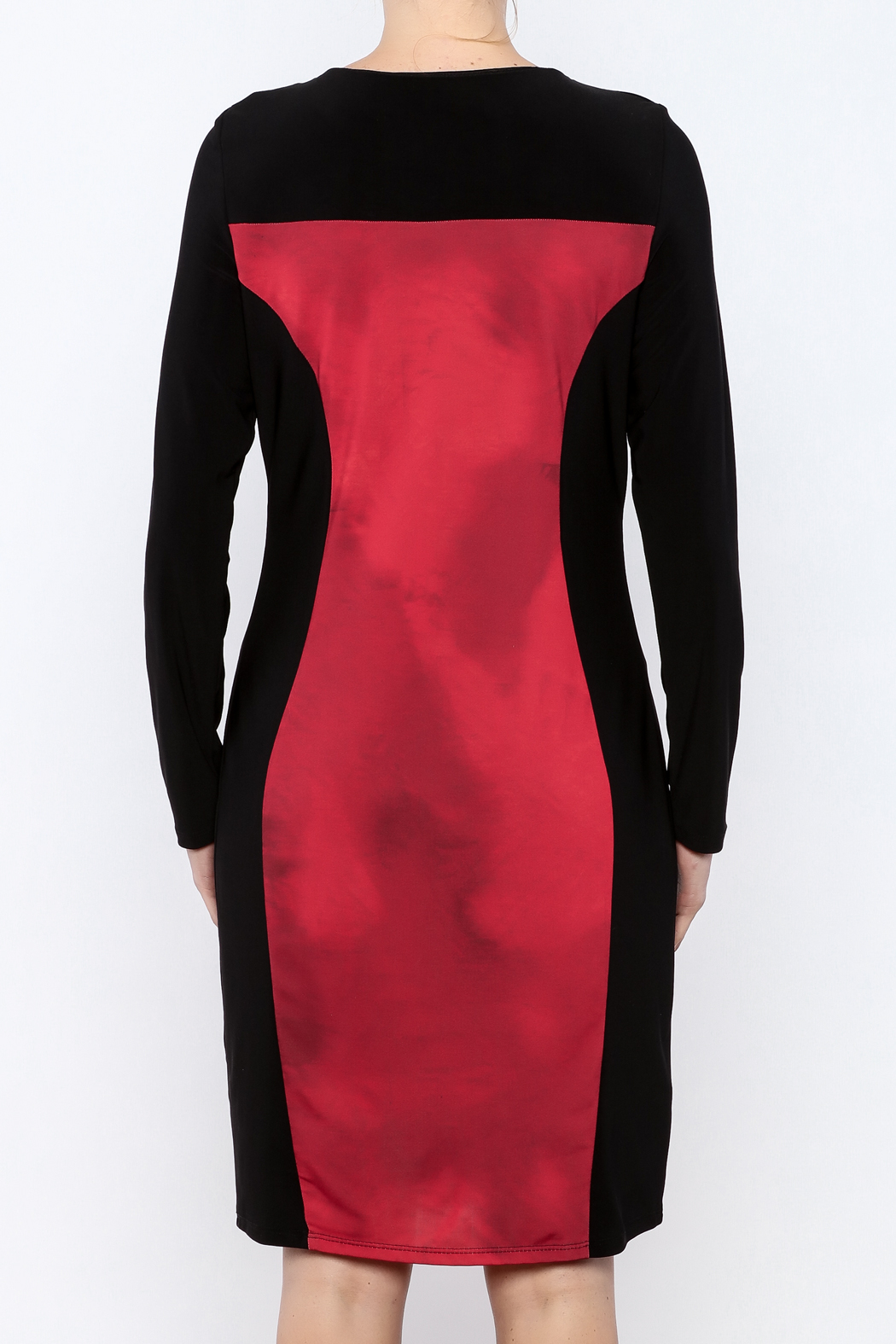 Michael Tyler Collections Panel Dress - Back Cropped Image