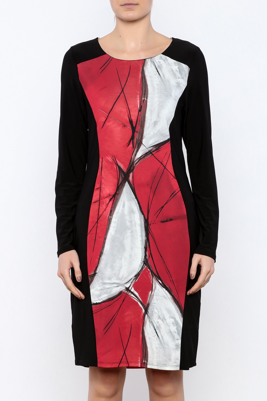 Michael Tyler Collections Panel Dress - Side Cropped Image