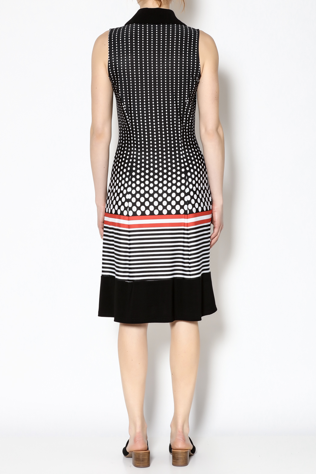 Michael Tyler Collections Polka Dot Dress - Back Cropped Image