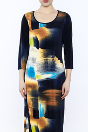 Michael Tyler Collections Abstract Maxi Dress - Side cropped