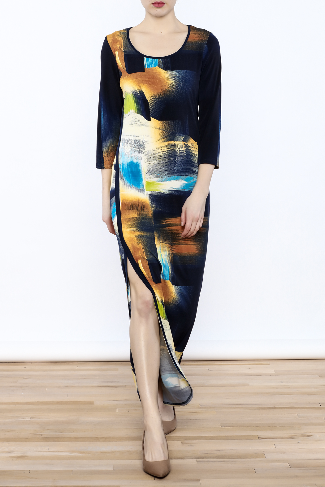 Michael Tyler Collections Abstract Maxi Dress - Main Image