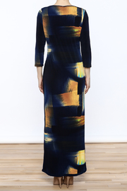 Michael Tyler Collections Abstract Maxi Dress - Back cropped