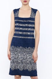 Michael Tyler Collections Navy Sleeveless Dress - Product Mini Image