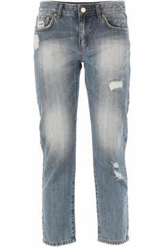 Michael by Michael Kors Distressed Cropped Jeans - Product List Image
