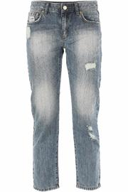 Michael by Michael Kors Distressed Cropped Jeans - Product Mini Image