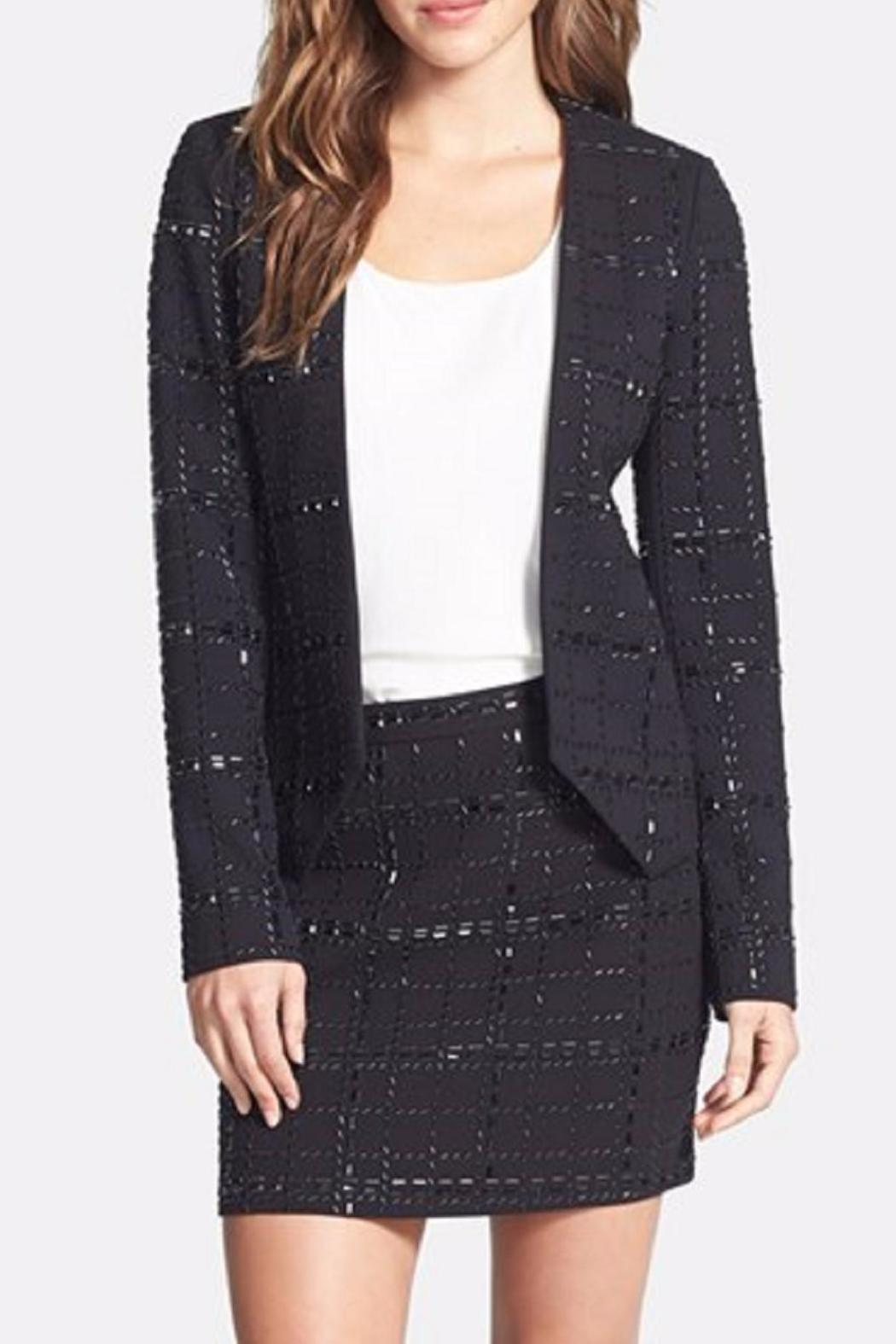 Michael by Michael Kors Collarless Beaded Jacket - Side Cropped Image