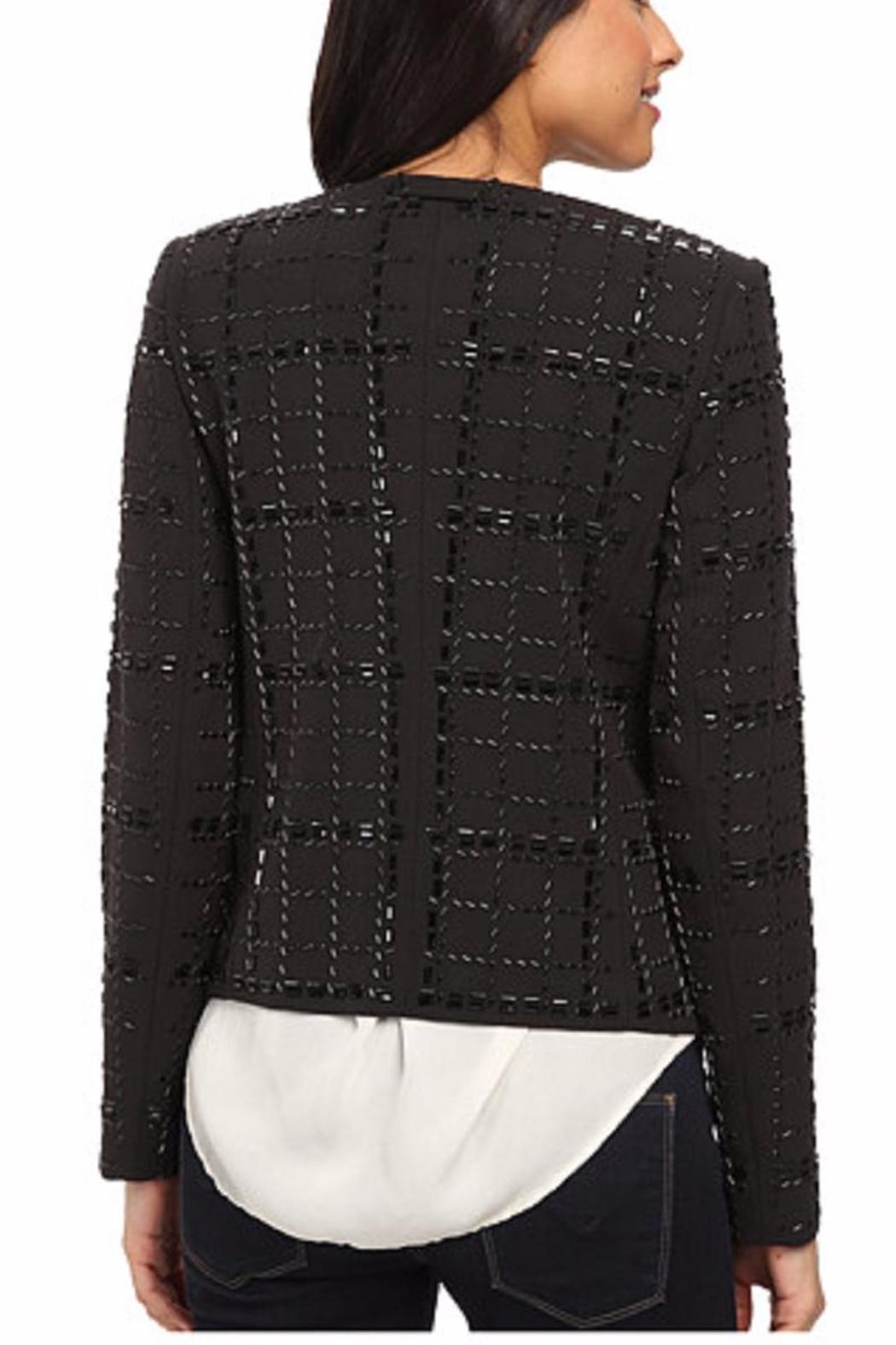 Michael by Michael Kors Collarless Beaded Jacket - Front Full Image