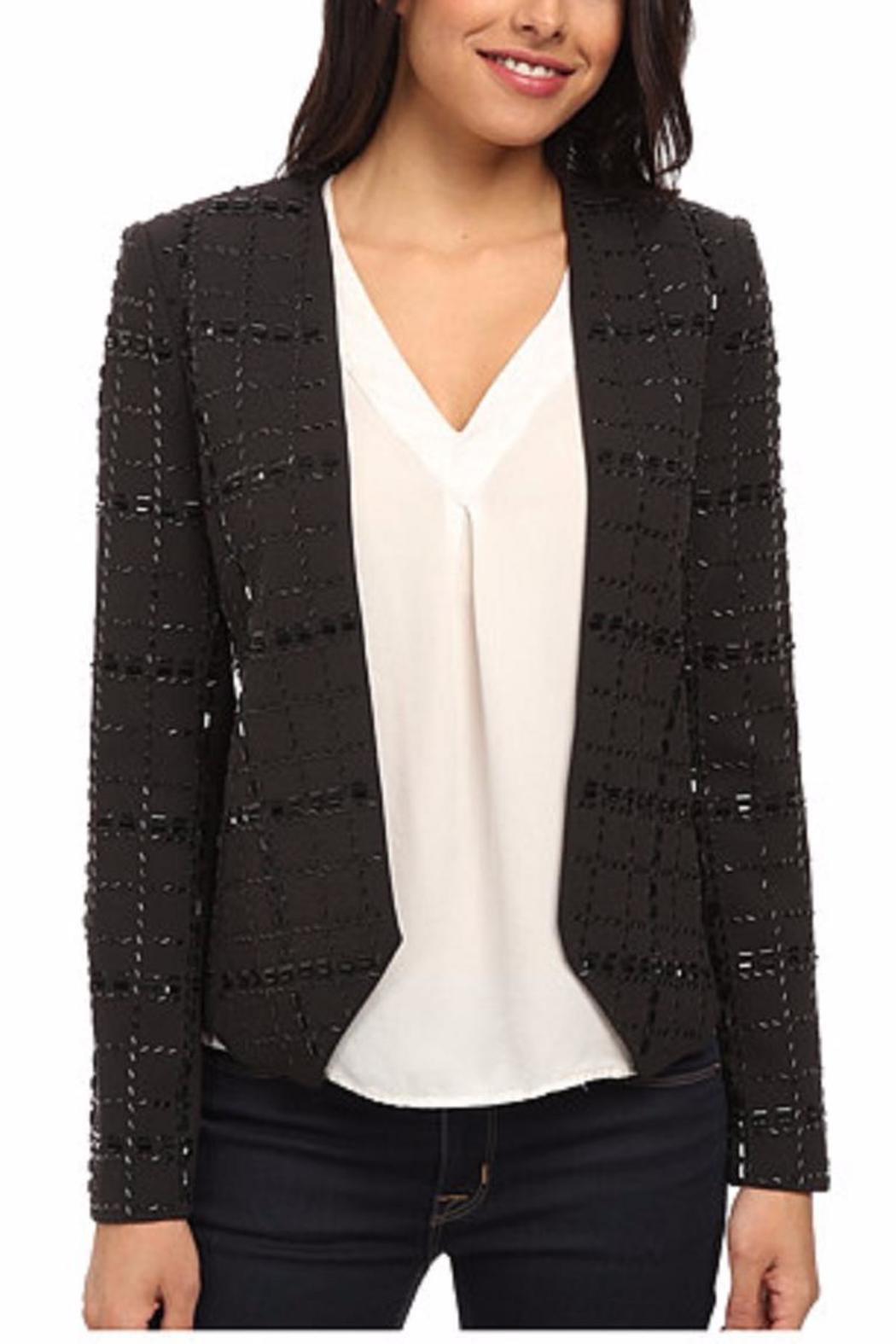 Michael by Michael Kors Collarless Beaded Jacket - Main Image