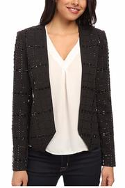 Michael by Michael Kors Collarless Beaded Jacket - Front cropped