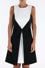 Michael by Michael Kors Color Block Buttoned Dress - Front cropped