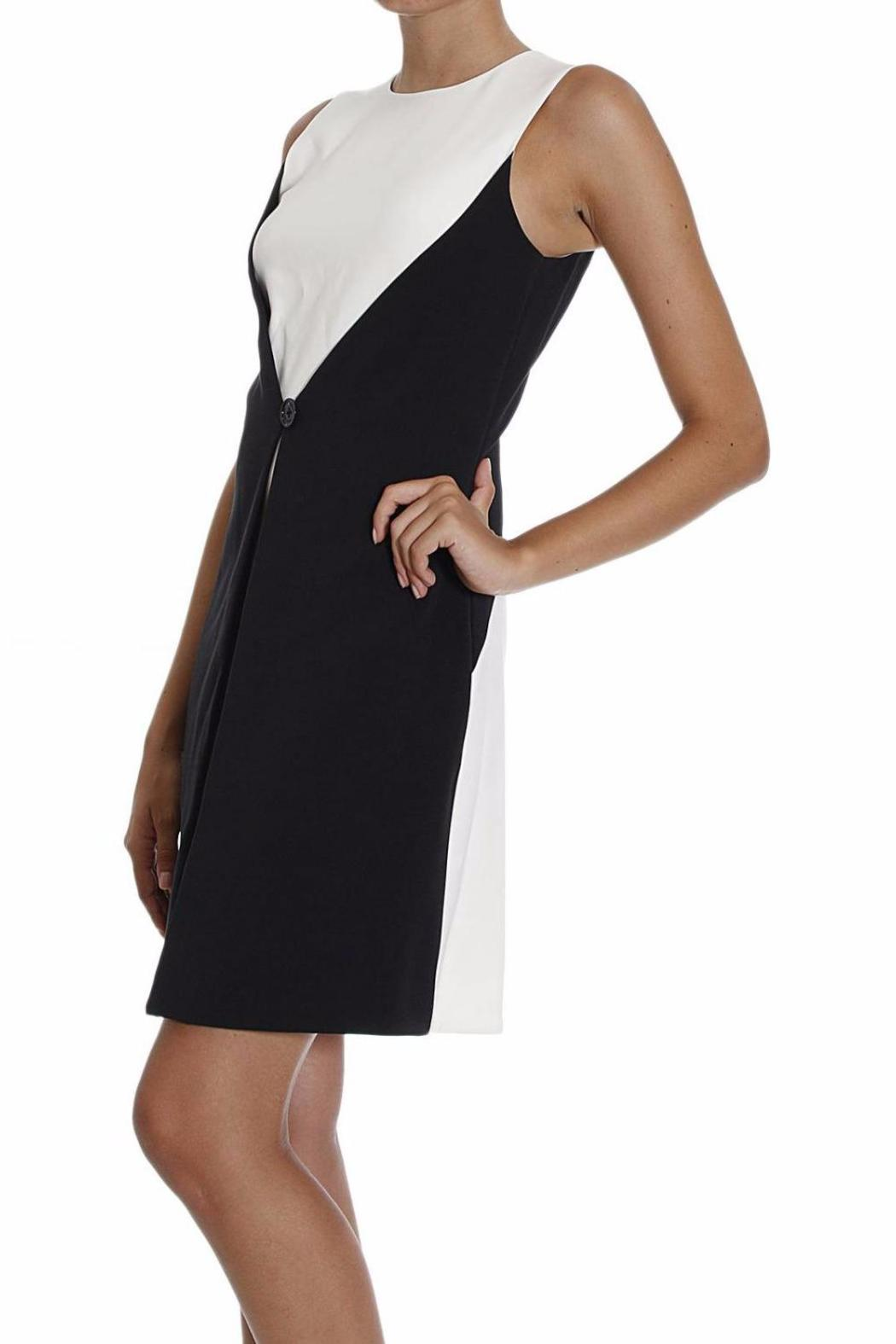Michael by Michael Kors Color Block Buttoned Dress - Front Full Image