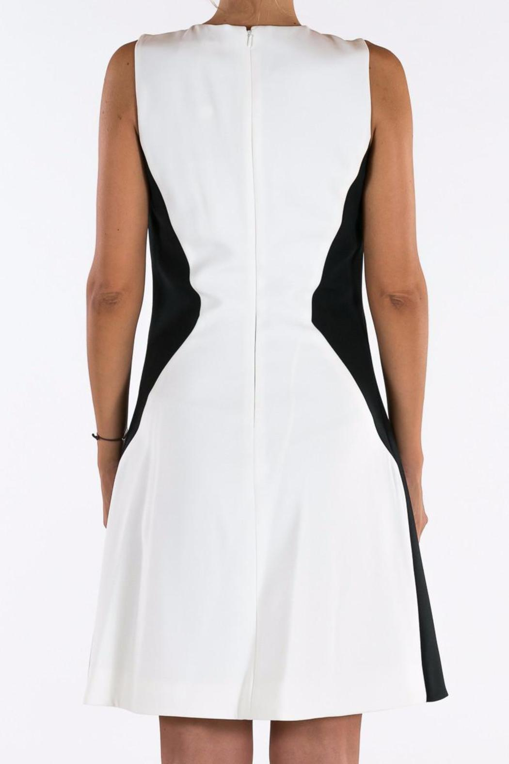 Michael by Michael Kors Color Block Buttoned Dress - Side Cropped Image