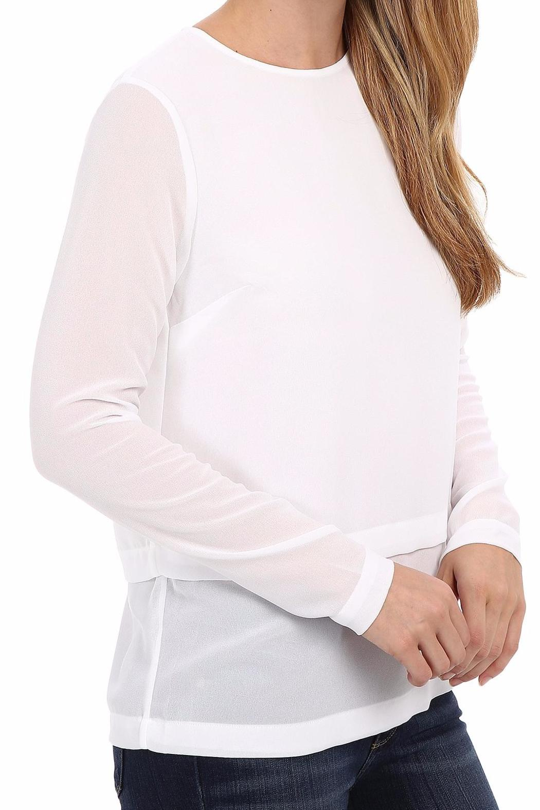 Michael by Michael Kors Double Layered Blouse - Front Full Image