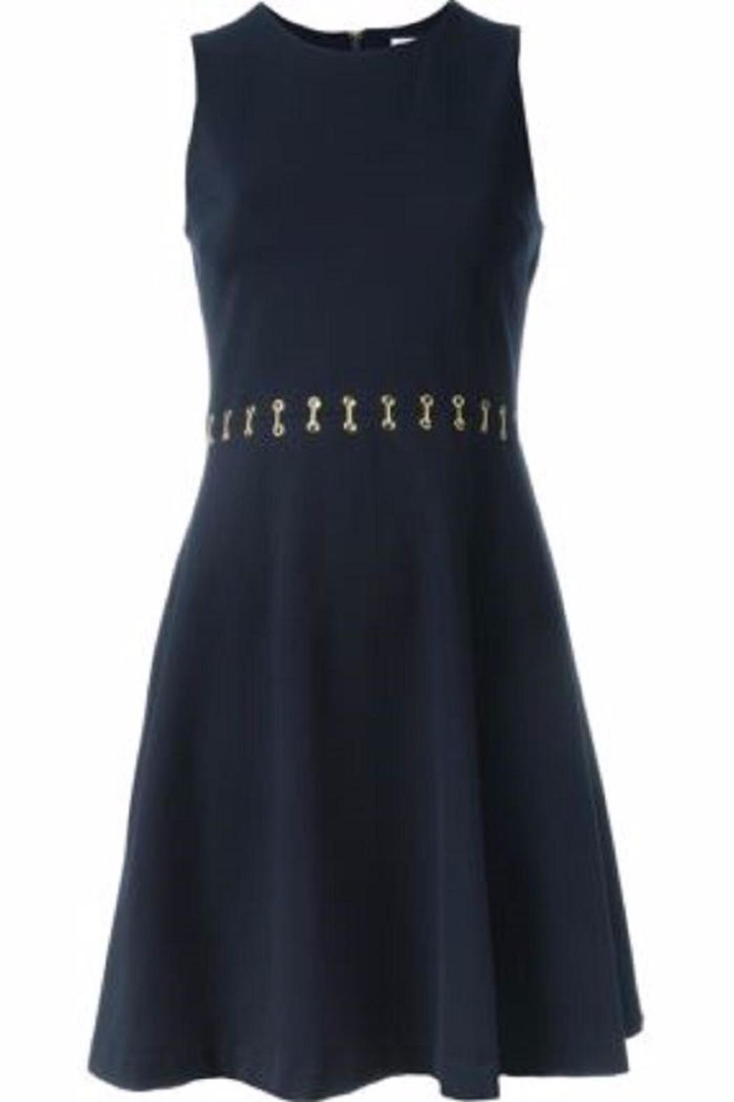 Michael by Michael Kors Eyelet Flare Dress - Back Cropped Image