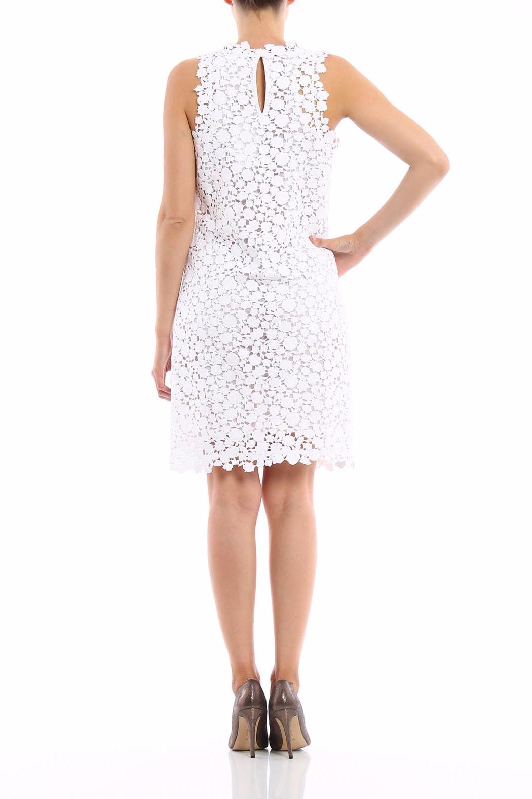 Michael by Michael Kors Floral Lace Shift Dress - Front Full Image