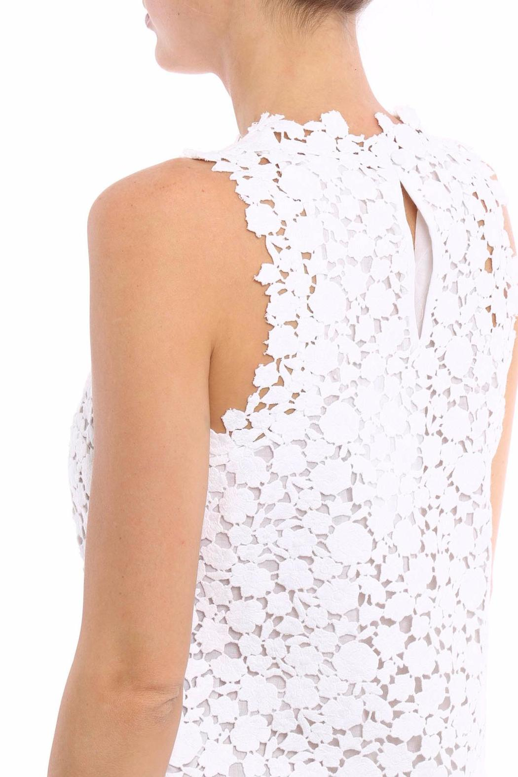 Michael by Michael Kors Floral Lace Shift Dress - Side Cropped Image