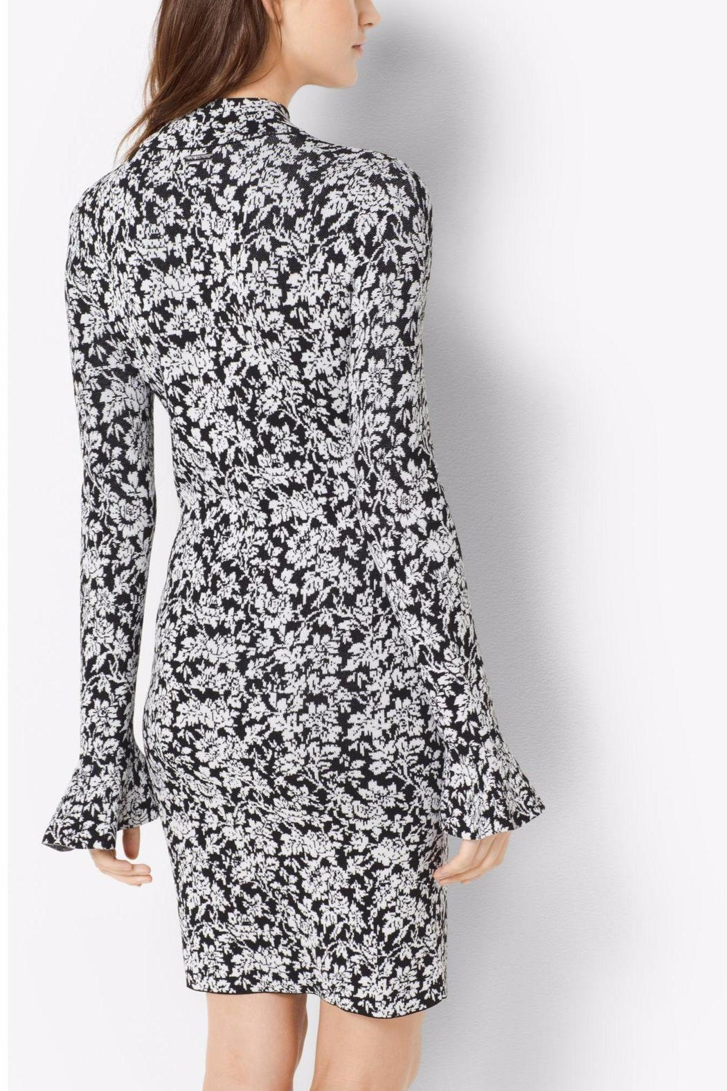 Michael by Michael Kors Floral Bell Sleeve Dress - Front Full Image