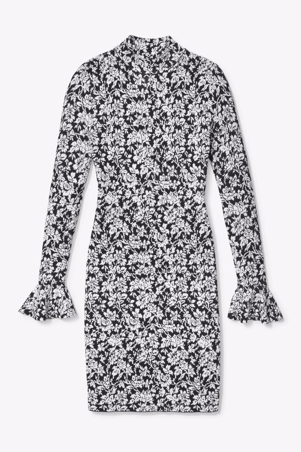 Michael by Michael Kors Floral Bell Sleeve Dress - Side Cropped Image