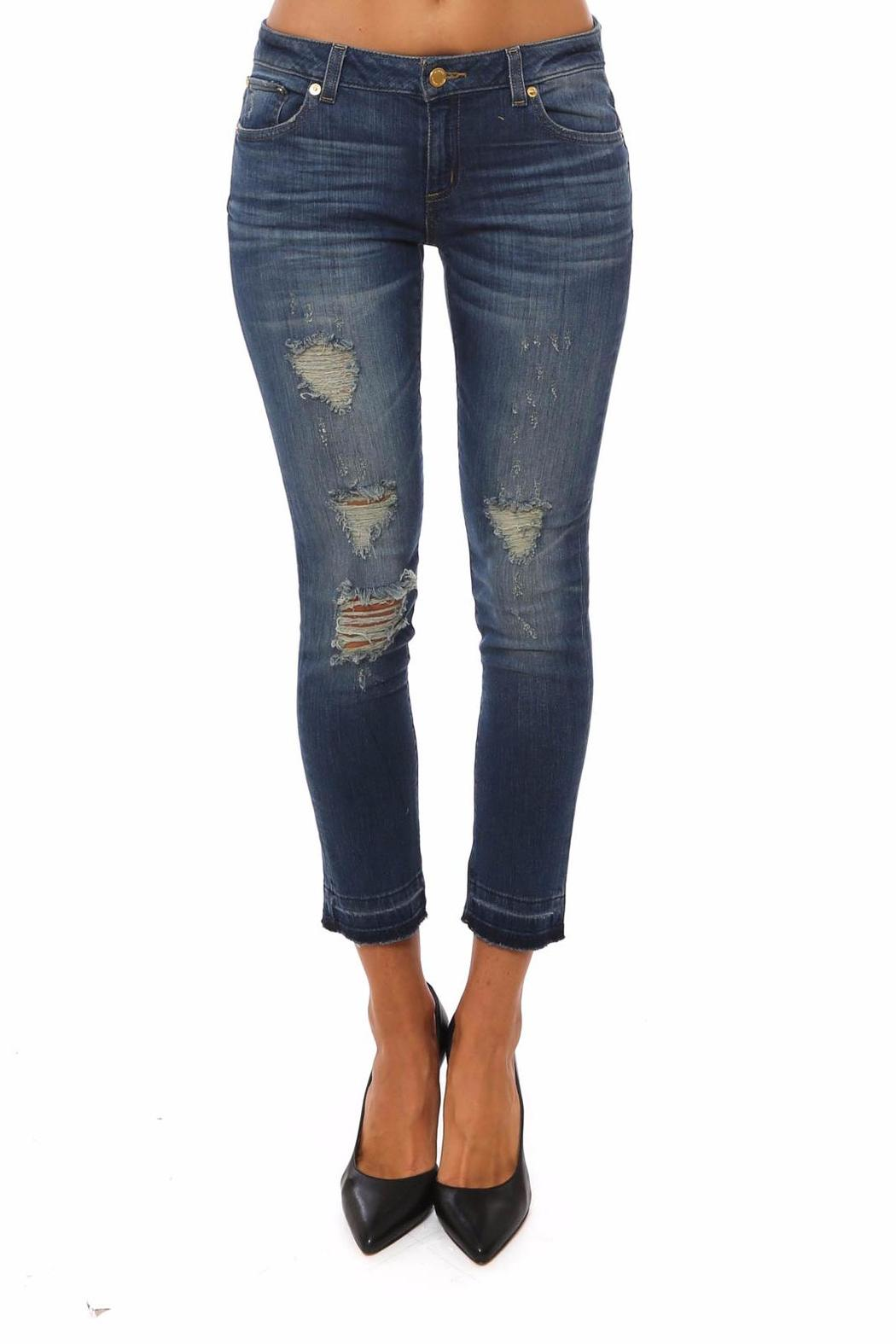880ad94854e3 Michael by Michael Kors Izzy Cropped Distressed Jeans - Front Cropped Image