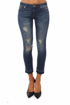 Michael by Michael Kors Izzy Cropped Distressed Jeans - Product List Image