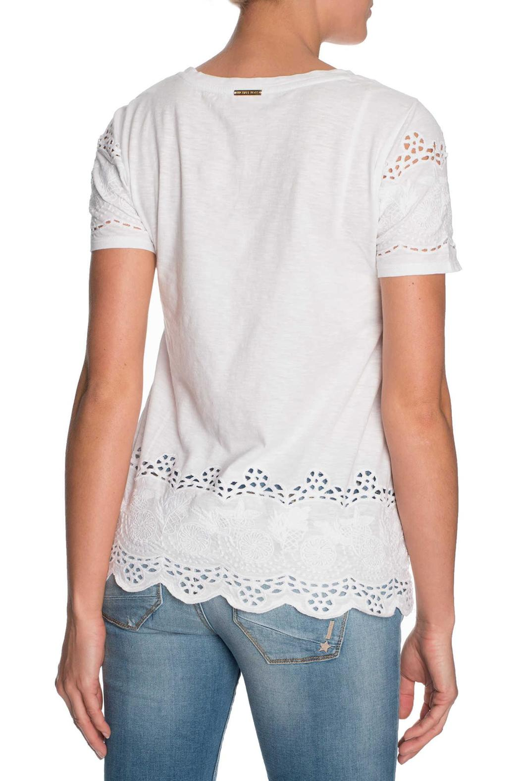 Michael by Michael Kors Lace Cutout Shirt - Front Full Image