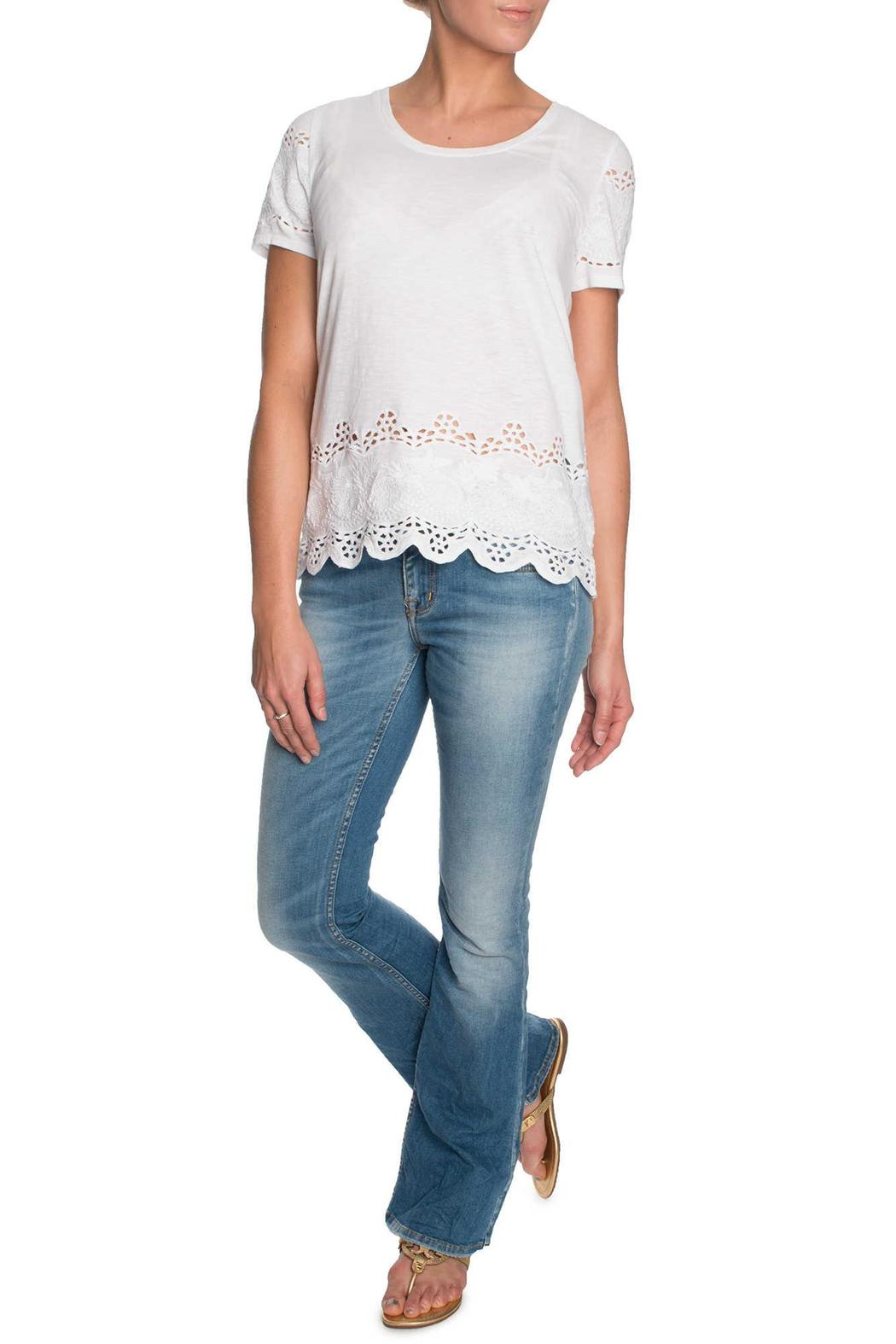 Michael by Michael Kors Lace Cutout Shirt - Side Cropped Image