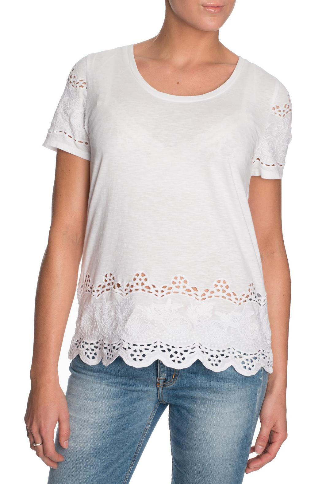 Michael by Michael Kors Lace Cutout Shirt - Front Cropped Image