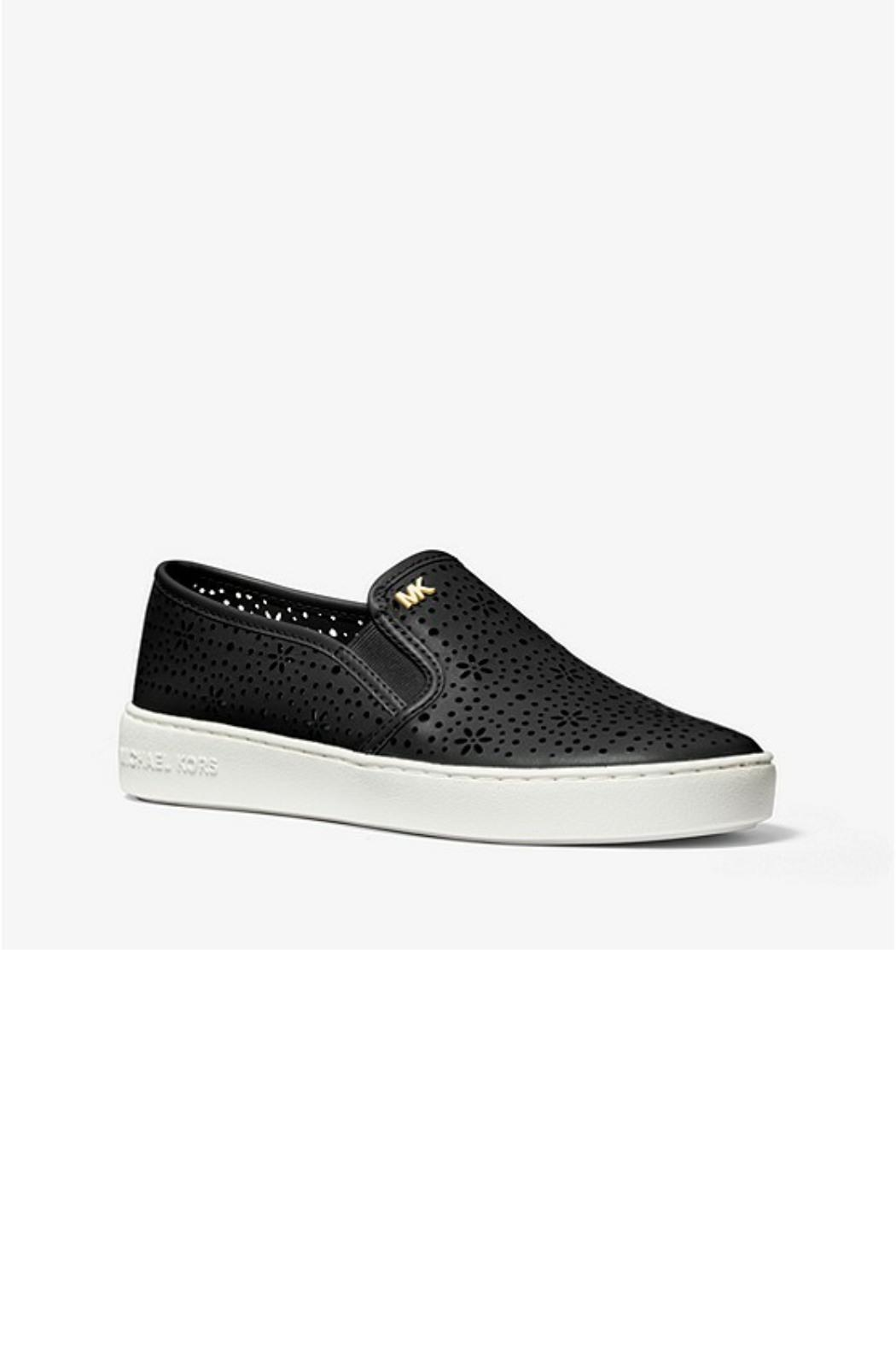 Michael by Michael Kors Laser Cut Out Sneaker - Side Cropped Image