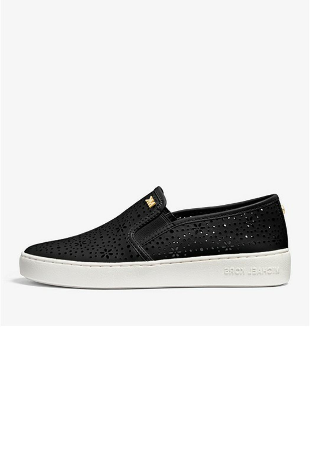 Michael by Michael Kors Laser Cut Out Sneaker - Front Cropped Image