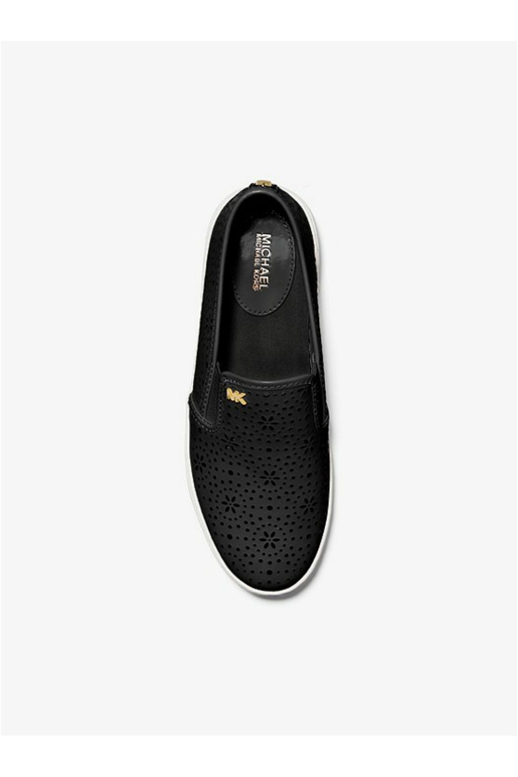 Michael by Michael Kors Laser Cut Out Sneaker - Front Full Image