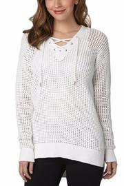 Michael by Michael Kors Mesh V Neck Tunic - Product Mini Image