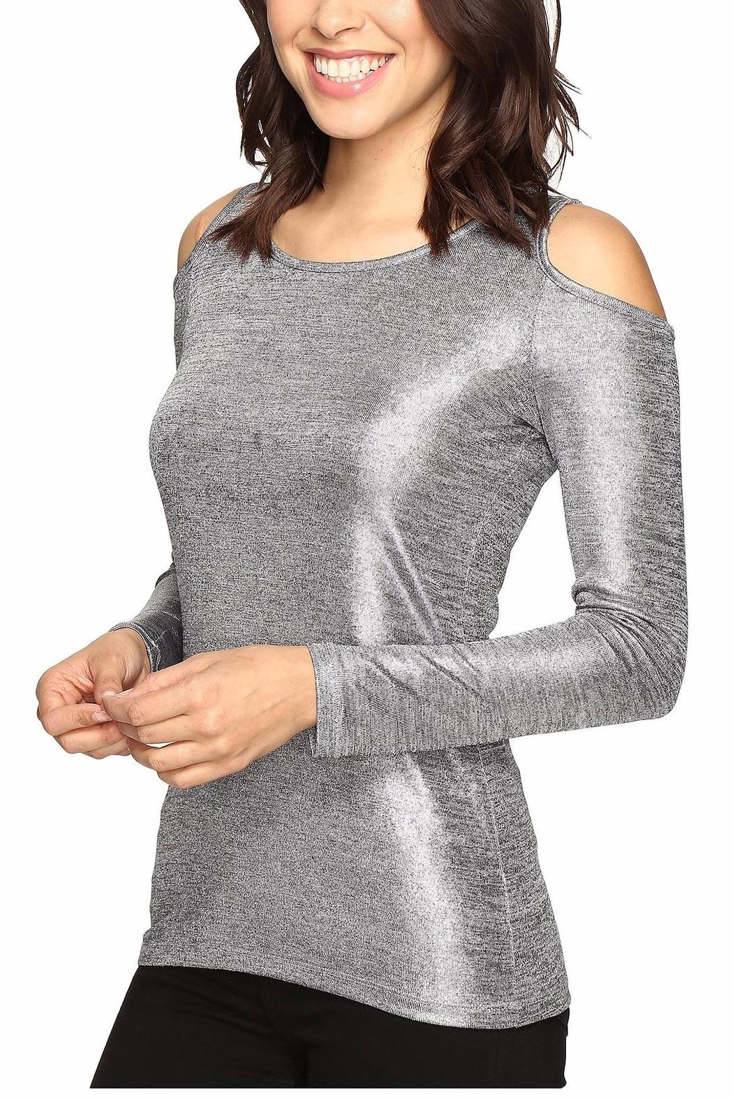 a83d88df140bc Michael by Michael Kors Metallic Cold Shoulder Top - Side Cropped Image
