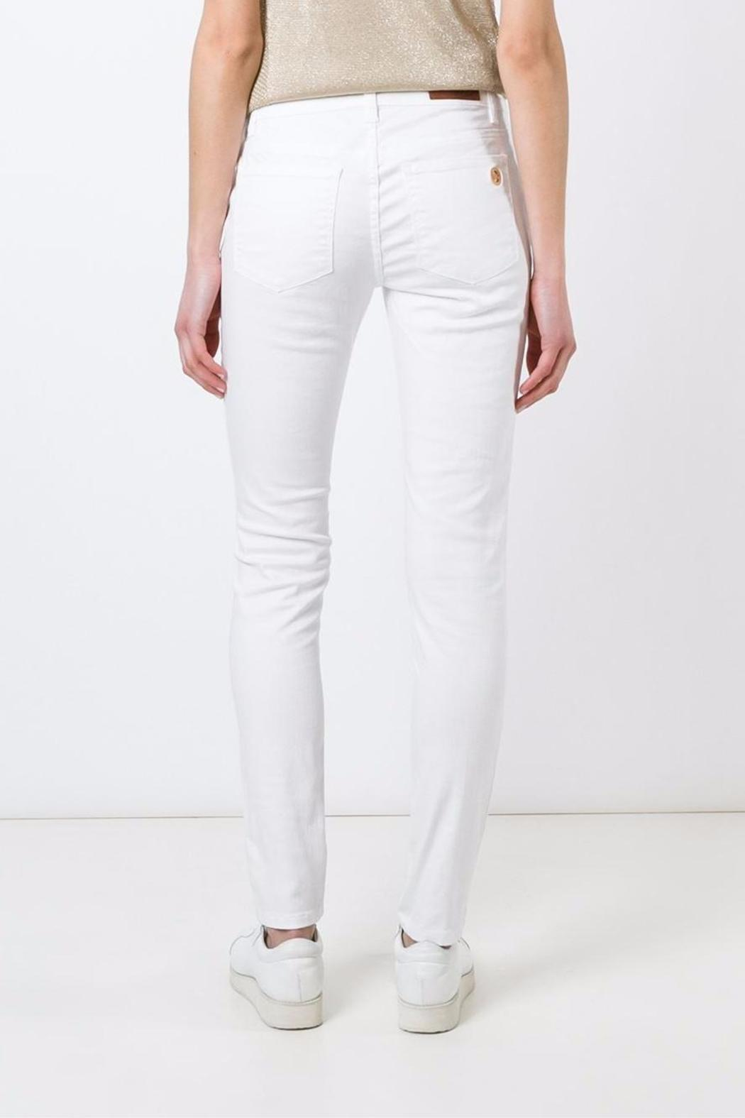 Michael by Michael Kors White-Skinny Mid-Rise - Back Cropped Image