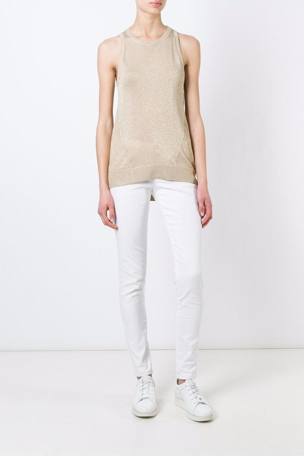 Michael by Michael Kors White-Skinny Mid-Rise - Front Full Image